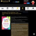 Golden Village - Buy 2 Movie Tickets Get 1 Free Child Ticket + Free Popcorn Combo (HSBC Visa Platinum Credit Cardholders)