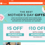$5 off ($40 Minimum Spend) or $10 off ($70 Minimum Spend) on Items in the Mother's Day Collection at Shopee