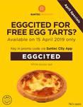 Free Egg Tart at Kopi Tarts (via Suntec Rewards App)