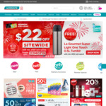 $22 off ($100 Min Spend) Sitewide + Free La Gourmet Super Light One Touch 0.5L Tumblr ($150 Min Spend) at Watsons [Members]