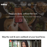 Up to 100% Cashback (Max $5) via Eatsy App [1pm to 3pm Daily]