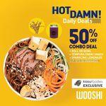 50% off All Sushi Rolls & Bowls Combo (U.P. $13.30) at Wooshi