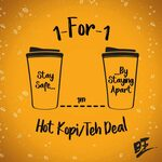 1 for 1 Kopi/Teh at Wang Cafe (Facebook Required)
