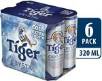 Tiger Crystal – Crystal Cold and Extra Smooth 6-Can Pack for $12.90 at RedMart via Lazada