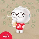 Free $10 Starbucks Card with BigHot$130 or $50 Top Up on Singtel hi! Accounts