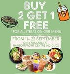 Buy 2 Items and Get 1 Free at Tuk Tuk Cha (HarbourFront Centre)