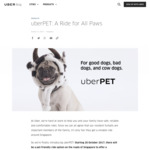 No Booking Fee (Normally $2) on UberPET until Dec 31