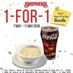 1 for 1 Drink + Soup of The Day Bundle at Swensen's via App (Monday 7th to Friday 11th May)