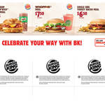 Burger King Coupons: Turkey Croissan'wich w/Egg Meal: $5.75, Whopper Meal: $7.50, Single BBQ Turkey Bacon Meal: $6.50
