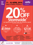 20% off Storewide on Full Priced Items at Unity Pharmacy