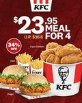 $23.95 for 6 Pcs Chicken, 2 Zingers, 2 Med Fries (U.P. $36.60) at KFC