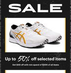 $40 off with Min. Spend of $200 at ASICS