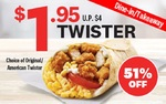 Original/American Twister for $1.95 (U.P. $4) with Any Purchase at KFC [Online]