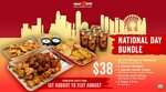 30pc Wings, Jumbo Potato Wedges + Kettle Chips, Carrots & Celery & 4 Regular Drinks or 1L Coke for $38 at Wing Zone