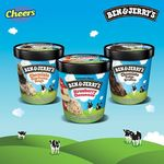 3x Ben & Jerry's Assorted 458ml/473ml Ice Cream Tubs for $29.50 (U.P. $41.70) at Cheers and FairPrice Xpress