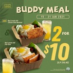2 Buddy Meals for $10 (U.P. $16.40) at CRAVE