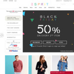 Esprit Black Friday Special - Every 2nd Item 50% Off (Esprit Friends Free Membership Req'd)