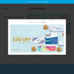 $20 off ($120 Min Spend) at ContactsDaily [New Customers]