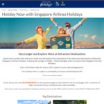 $50 off Singapore Airlines Flight + Hotel Packages (Min. 4-Night Stay)