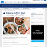 10 x $1 Statement Credits When Dining out with AmEx Pay @ Select Hawker Centres