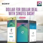Dollar for Dollar Deal with Singtel Dash (with Sony Xperia XZ, XA or XA Ultra Purcahse) + Free Sony Headset with Top Up of $50