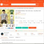 Men's Cotton T-Shirts for $2.99 Delivered from fashionunlimited via Shopee