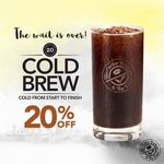 20% off Cold Brew at The Coffee Bean & Tea Leaf