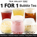 Tea Valley 1 For 1 Bubble Tea $2.90 (2 Cups) with qoo10 Voucher