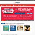 Free Delivery on Orders over $52 / Free Click & Collect (No Minimum Spend) at FairPrice