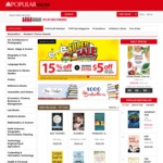 15% off Sitewide at Popular Bookstore