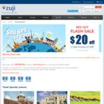 $20 off Flight Bookings ($200 Minimum Spend) at ZUJI