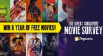 Win 52 Movie Tickets, or 1 of 20 Pairs of Movie Tickets from Popcorn