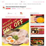 50% off Special Tonkotsu ($8) at Ikkousha Hakata Ramen via JPassport (Monday 24th September)