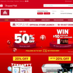Up to 50% off + $10 off ($100 Min Spend) at Popular via Shopee