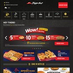 $1 Personal Pan Pizza (Fav/Classic Range) with $15 Minimum Spend at Pizza Hut