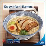 1 for 1 Ramen @ Sō Ramen for Citibank Cardholders 12 + 19 July @ Breadtalk IHQ,  2 + 9 + 16 Aug @ Novena Square