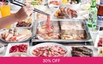 Lunch Buffet + Ice Cream + Coke for $1 (U.P. $18.90) at GoroGoro Steamboat & Korean Buffet via Fave (previously Groupon)