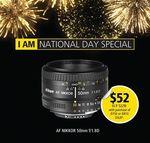 Nikon AF NIKKOR 50mm f/1.8D Lens for $52 with the Purchase of a D750 or D810 DSLR