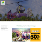 NTUC Member Enjoy up to 50% off Top Sentosa Attractions