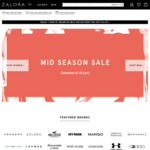 18% off Sitewide at Zalora ($80 Minimum Spend, New Customers)