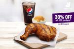 30% off All KFC Orders ($20 Minimum Spend) via Deliveroo