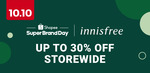 $5 off ($50 Min Spend) or $15 off ($100 Min Spend) at Innisfree via Shopee