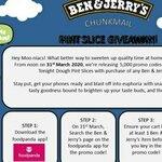 Ben & Jerry Pint Slice Giveaway on 31 March via FoodPanda