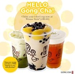 1 for 1 Drinks + Free Toppings on Next Purchase at Gong Cha (Wisma Atria)
