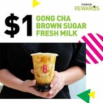 $1 Brown Sugar Fresh Milk Tea at Gong Cha (StarHub Rewards)