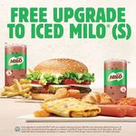 Purchase Any Regular Meal and Receive a Free Upgrade to a Small Iced Milo Drink at Burger King