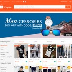 20% off Men's Fashion Categories at Shopee