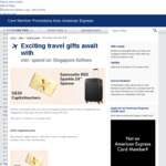 American Express / Singapore Airlines: SIA October Fare Gifts 2018, Special Fares