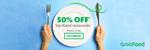 50% off Top Rated Restaurants via GrabFood