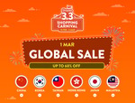 10% off ($10 Min Spend), $5 off ($40 Min Spend) or $10 off ($80 Min Spend) Overseas Marketplaces at Shopee